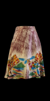 Custo Barcelona Silk Print Skirt